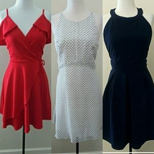 Red White and Blue Bundle! 3 dresses! NWT SzL
